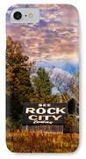 Rock City Barn IPhone Case by Debra and Dave Vanderlaan