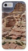rock landscape with simple tombs in Petra IPhone Case by Juergen Ritterbach