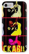 Rockabilly In Comic Style IPhone Case