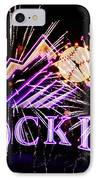 Rockies And Fireworks IPhone Case by Bob Hislop