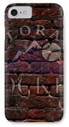 Rockies Baseball Graffiti On Brick  IPhone Case by Movie Poster Prints