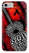 Rockin Guitar In Red Typography IPhone Case