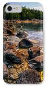 Rocks At Shore Of Georgian Bay IPhone Case by Elena Elisseeva