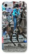 Rodeo Cowgirl IPhone Case by Gary Keesler