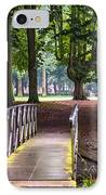 Romantic Bridge To Shadow Place. De Haar Castle IPhone Case by Jenny Rainbow