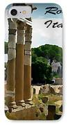 Rome Italy Poster IPhone Case