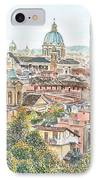 Rome Overview From The Borghese Gardens IPhone Case by Anthony Butera