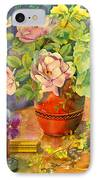Roses And Pansies IPhone Case by Julia Rowntree