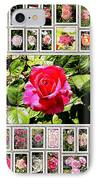 Roses Collage 2 - Painted IPhone Case by Stefano Senise