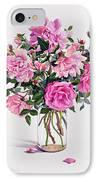 Roses In A Glass Jar  IPhone Case
