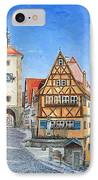 Rothenburg Germany IPhone Case by Mike Rabe