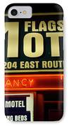 Route 66 Flagstaff Motel IPhone Case by Bob Christopher