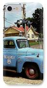 Route 66 - Gas Station With Watercolor Effect IPhone Case by Frank Romeo