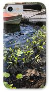 Rowboat At Lake Shore At Dusk IPhone Case by Elena Elisseeva
