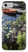 Rowboat At Lake Shore IPhone Case by Elena Elisseeva