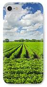 Rows Of Soy Plants In Field IPhone Case by Elena Elisseeva
