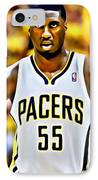 Roy Hibbert IPhone Case by Florian Rodarte