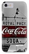 Royal Pharmacy Soda IPhone Case by Andy Crawford
