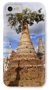 Ruined Pagodas At Shwe Inn Thein Paya IPhone Case