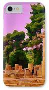 Ruins At Olympus Greece IPhone Case by John Malone