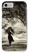 Rural Indian Village Life IPhone Case by Tim Gainey