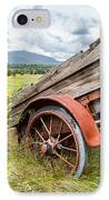 Rustic Landscapes - Wagon And Wildflowers IPhone Case