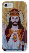 Sacred Heart Of Jesus Hand Embroidery IPhone Case