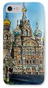 Saint Petersburg Russia The Church Of Our Savior On The Spilled Blood IPhone Case by Irina Sztukowski
