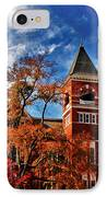 Samford Hall In The Fall IPhone Case by Victoria Lawrence