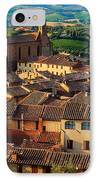 San Gimignano From Above IPhone Case by Inge Johnsson