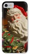 Santa Claus - Antique Ornament - 10 IPhone Case by Jill Reger