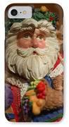 Santa Claus - Antique Ornament - 20 IPhone Case by Jill Reger