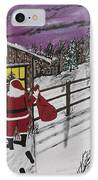 Santa Claus Is Watching IPhone Case