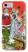 Santa Claus Toy Factory IPhone Case by Jesus Blasco