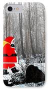 Santa In Christmas Woodlands IPhone Case