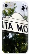 Santa Monica Blvd Street Sign In Beverly Hills IPhone Case by Paul Velgos
