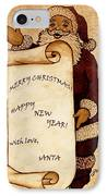 Santa Wishes Digital Art IPhone Case by Georgeta  Blanaru