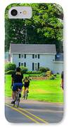 Saturday Bike Ride IPhone Case by Tina M Wenger