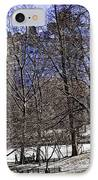 Scene From Central Park - Nyc IPhone Case by Madeline Ellis
