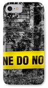 Scene Of The Crime IPhone Case by Olivier Le Queinec