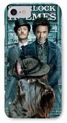 Scottish Terrier Art Canvas Print - Sherlock Holmes Movie Poster IPhone Case