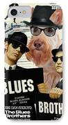 Scottish Terrier Art Canvas Print - The Blues Brothers Movie Poster IPhone Case by Sandra Sij