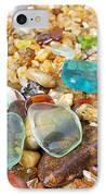 Seaglass Coastal Beach Rock Garden Agates IPhone Case