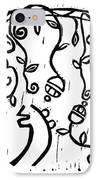 Sei Hei Ki With Flowers IPhone Case by Lynn-Marie Gildersleeve