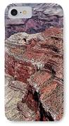 Shades Of Red In The Canyon IPhone Case