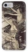 Siegfried Siegfried Our Warning Is True Flee Oh Flee From The Curse IPhone Case by Arthur Rackham