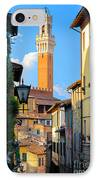 Siena Streets IPhone Case by Inge Johnsson