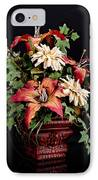 Silk Flowers IPhone Case by Jeff Burton
