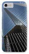Silver Lines To The Sky - Downtown Toronto Skyscraper IPhone Case