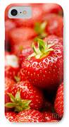 Simply Strawberries IPhone Case by Anne Gilbert